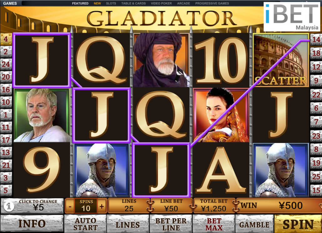 Play Gladiator Slots Online at Casino.com India