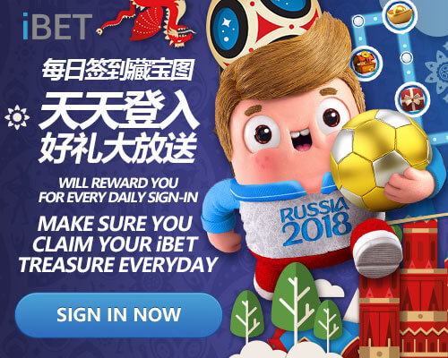 iBET Promotion – Reward you for every Daily Sign-In