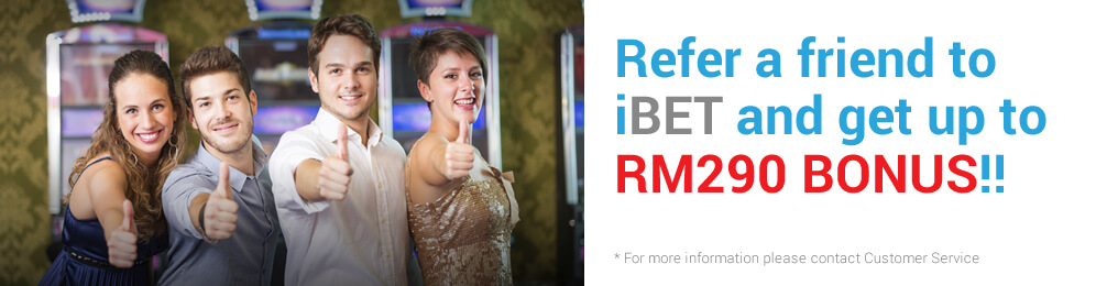 iBET SCR888 Refer a friend Promotion