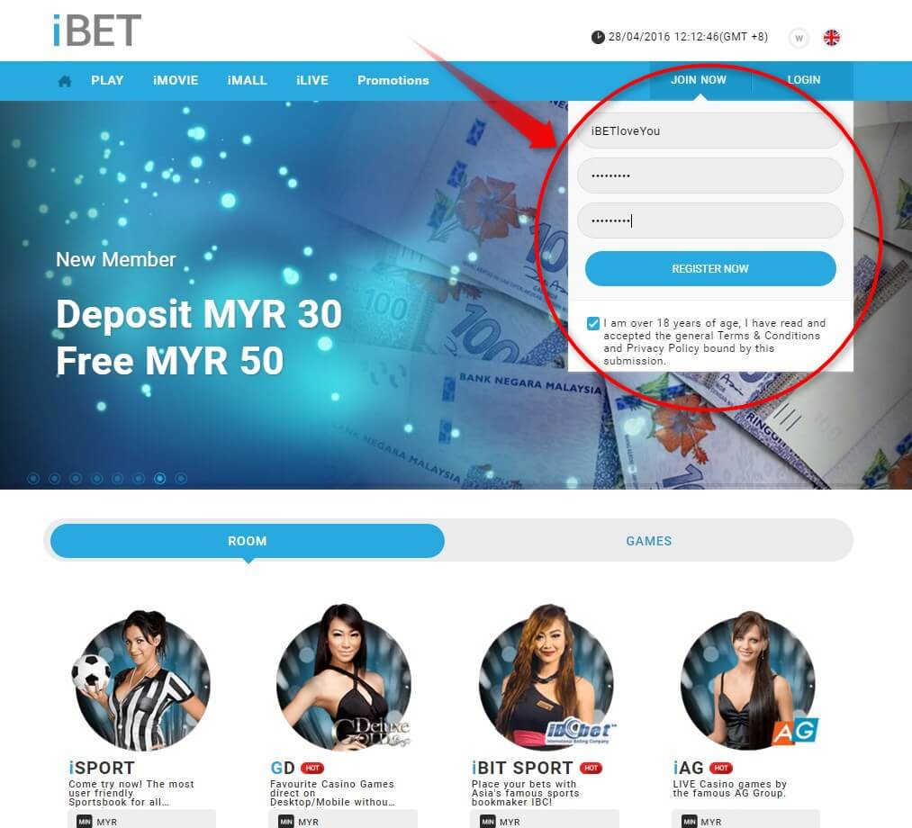 Register iBET SCR888 Online Casino is so easy 2