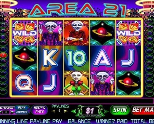 918Kiss(Scr888) Area 21 Slot Game Image