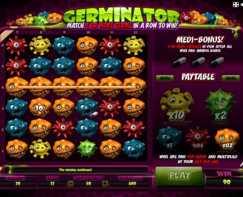 m.scr888 Unique 6 Reels Format Germinator Slot Game