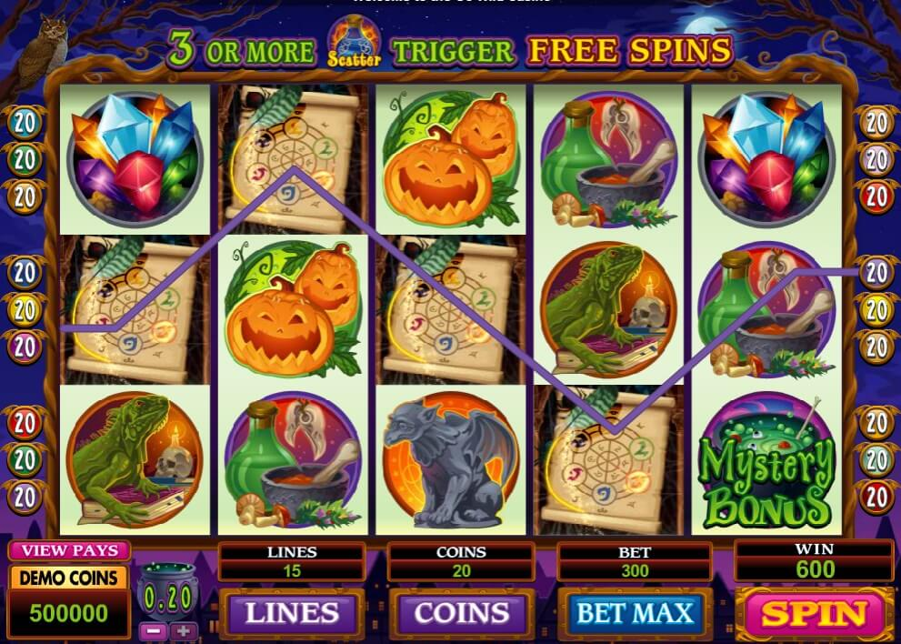 m.scr888 Lucky Witch Slot With the most exciting Impressive Bonus