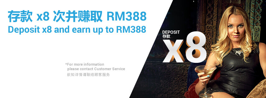 Earn Up to RM388 918Kiss(SCR888) Deposit x8 Promotion!1