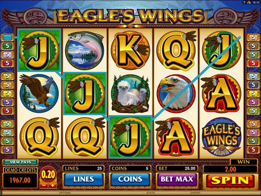 Eagles Wings™ Slot Machine Game to Play Free in Microgamings Online Casinos