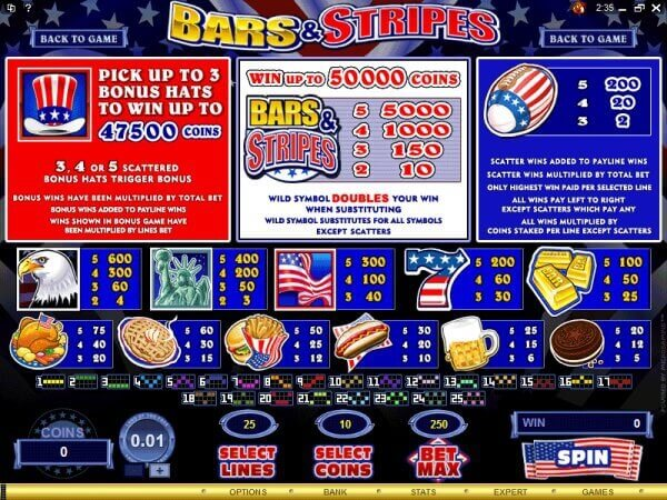 SCR3888 Funny Slot Game Bars and Stripes With Bonus2
