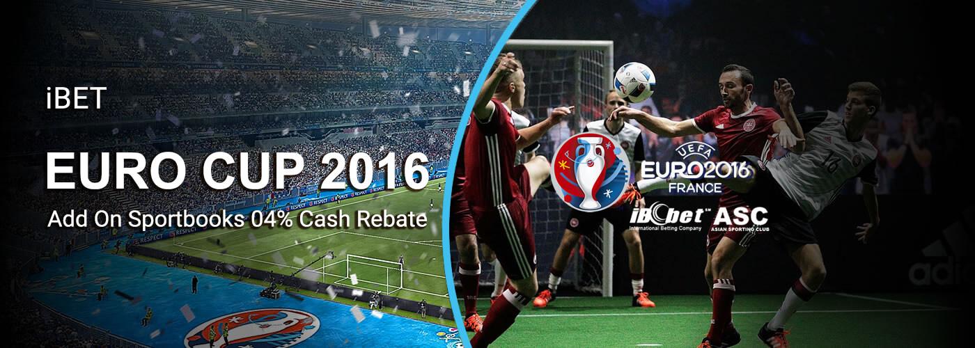 SCR888 iBET 2016 Euro Sportsbet 0.4% Cash Rebate