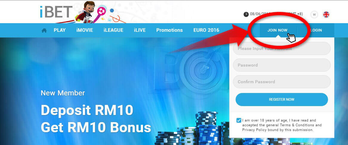 Free Register iBET Online Casino Malaysia and Get Bonus!