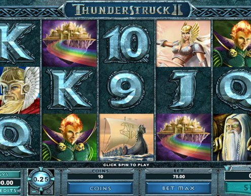 918Kiss(SCR888) Tips : Thunderstruck II Slot Game