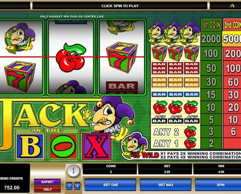 918Kiss(SCR888) Slot Game Jack in Box description