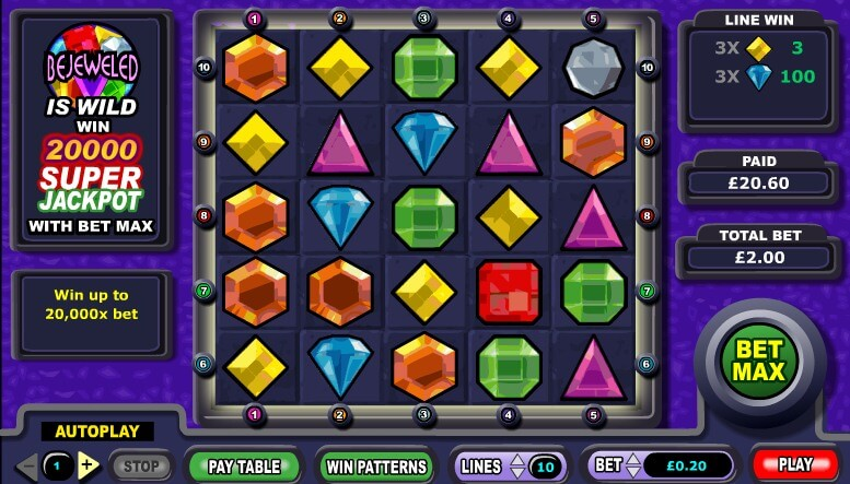 Bejeweled casino game slot tournament casinos