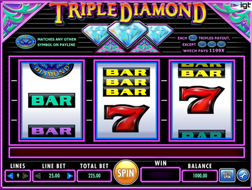 918Kiss(SCR888) Online Casino Triple Diamond Slot Game