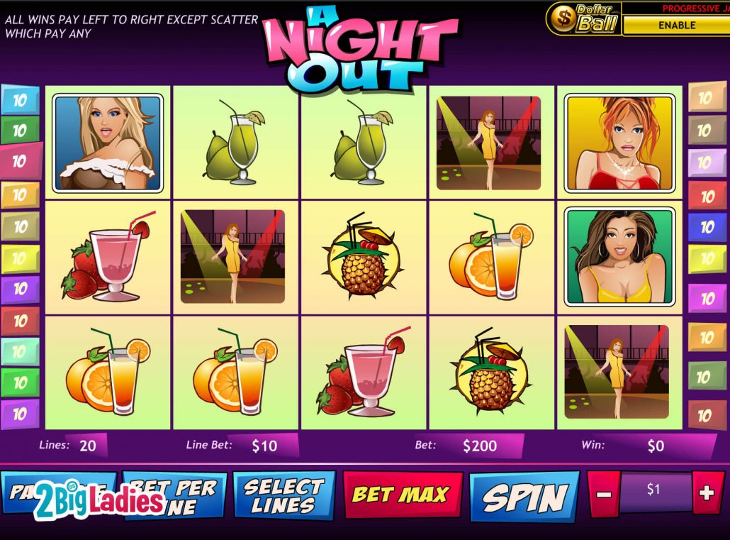 Play A Night Out Slots Online at Casino.com NZ