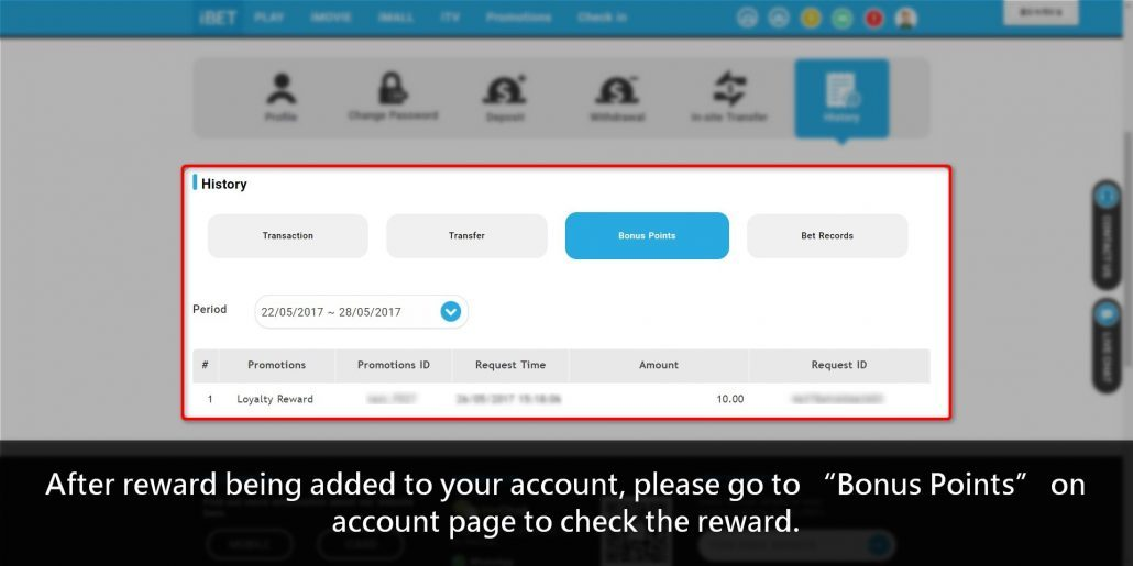 How to get SCR888 Loyalty Reward Free Credit RM10