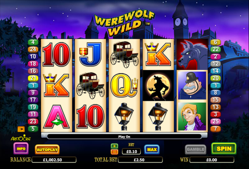 Hengheng2 SCR888 Casino Online Slot Werewolf Wild