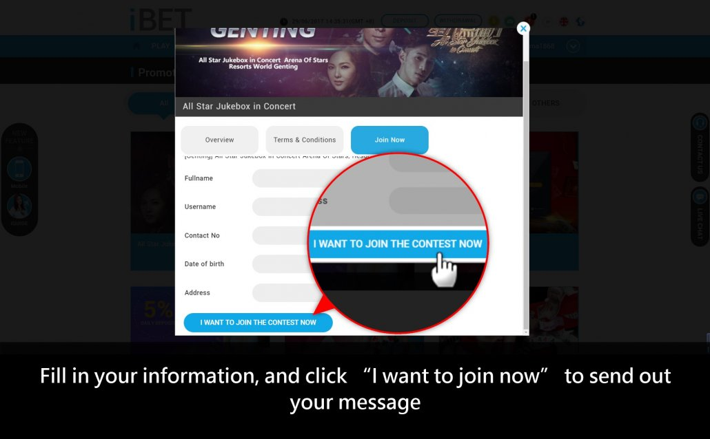 How to Join SCR888 Lucky Draw All Star Jukebox