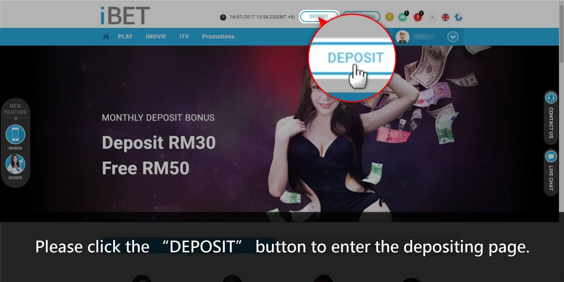 How to Get 918Kiss(SCR888) Casino Extra 100% Deposit Bonus