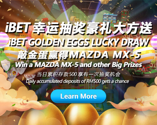 iBET Lucky Draw Crack The Golden Eggs and Win MAZDA MX-5